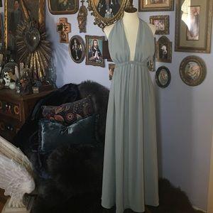 Show me your MuMu Luna Silver Sage Maxi Dress S